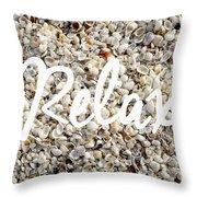 Relax Seashell Background Throw Pillow