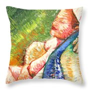 Relaxation II Throw Pillow