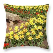 Relaxation In The Garden Throw Pillow