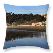 Relaxing At Ocean Beach San Francisco Throw Pillow