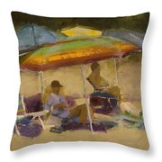 Relaxing At The Lake Throw Pillow