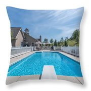 Relaxing By The Pool2 Throw Pillow