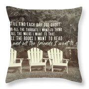 Relaxing On The Cape Quote Throw Pillow