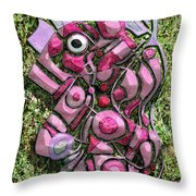 Relaxing Piglet Throw Pillow