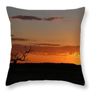 Relaxing Sun Throw Pillow