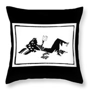 Relaxing With A Good Book Throw Pillow