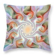 Release From The Center Throw Pillow