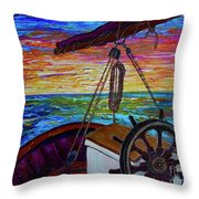 Release The Sails Throw Pillow by Jacqueline Athmann