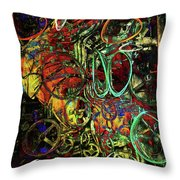 Release Valve Abstract Throw Pillow