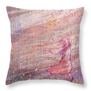 Releasing The Daisies Throw Pillow