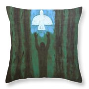 Releasing The Dove Throw Pillow
