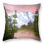 Relections In Pink Throw Pillow