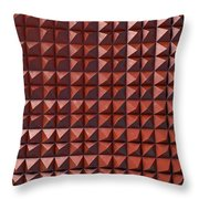 Relief C2 Red Metallic Throw Pillow