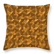 Relief M2 Orange Throw Pillow