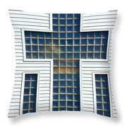 Religion Window Cross Throw Pillow