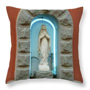 Religious Icon Mary Throw Pillow