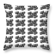 Religious Illustration Because I Love You Black And White Pattern Throw Pillow