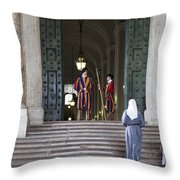 Religious Visit Throw Pillow
