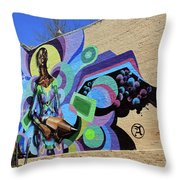 Reloaded Or Education Is A Powerful Weapon Mural -- 2 Throw Pillow
