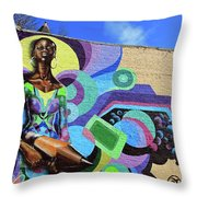Reloaded Or Education Is A Powerful Weapon Mural Throw Pillow