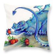 Reluctant Vegetarian Throw Pillow