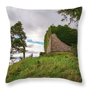 Remains Of Castle Lachlan Throw Pillow