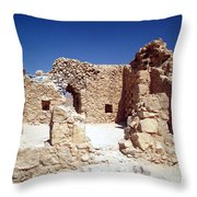 Remains Of The Massada Synagogue Throw Pillow