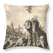 Remains Of The Temple Of Castor And Pollux Throw Pillow