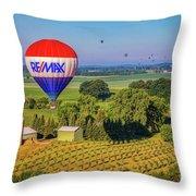 Remax Hot Air Balloon Ride Throw Pillow