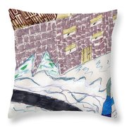 Remember When We Walked To School Throw Pillow