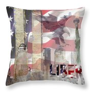 Remembering 9-ll Throw Pillow