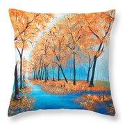 Remembering Autumn Throw Pillow