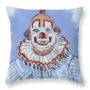 Remembering Clarabelle The Clown Throw Pillow