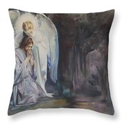 Remembering Experiencing Being There Throw Pillow