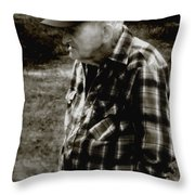 Remembering Hard Times Throw Pillow