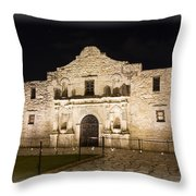 Remembering The Alamo Throw Pillow