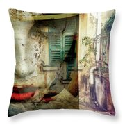 Remembering The Time At Italy Throw Pillow