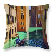 Remembering Venice Throw Pillow