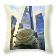 Remembering With A Rose Throw Pillow