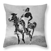 Remington: Comanche, C1890 Throw Pillow