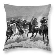 Remington: Dash For Timber Throw Pillow
