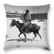 Remington: Luckless Hunter Throw Pillow