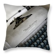 Remington Quiet Riter Throw Pillow