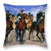 Remington: Troopers, C1890 Throw Pillow