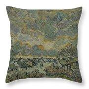 Reminiscence Of Brabant Saint Remy De Provence March - April 1890 Vincent Van Gogh 1853  1890 Throw Pillow