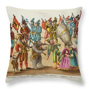 remnants of antiquities at various Orthen Throw Pillow