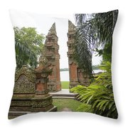 Remnants Of The Past Jefferson Island  Throw Pillow