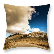 Remote Rural Roads Throw Pillow