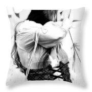 Renaissance Archeress Throw Pillow