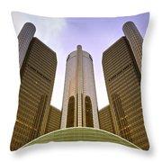 Renaissance Center Throw Pillow